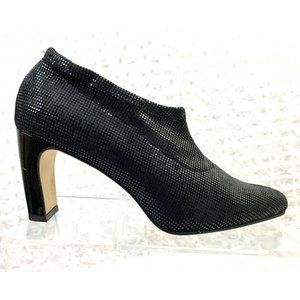 Jones New York Black Sequins Pattern Ankle Bootie+